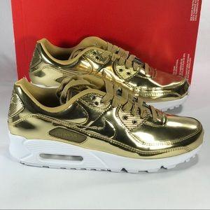 Air Max 90 Metallic Gold Women's Size 5, 10 New